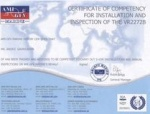 AMI Certificate of Copmpetency