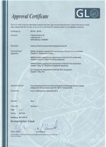 Germanischer Lloyd Approval Certificate