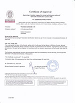 Bureau Veritas Certificate. Approving a Supplier engaged in annual performance testing of AIS