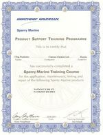 Sperry Marine Training Certificate